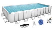 56475 Каркасный бассейн прямоугольный BestWay, 732х366х132см, фильтр-насос песчанный 5678 л/ч