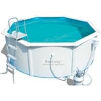 56574 Каркасный бассейн круглый со стальными стенками BestWay Hydrium Pools 360х120см, 10,990м3, фильтр-насос песчанный , 2006 л/ч