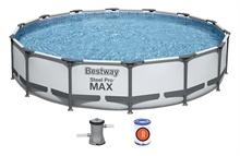 56595 Бассейн каркасный круглый Steel Pro Max , 427х84см, фильтр-насос 2006 л/ч (26720)