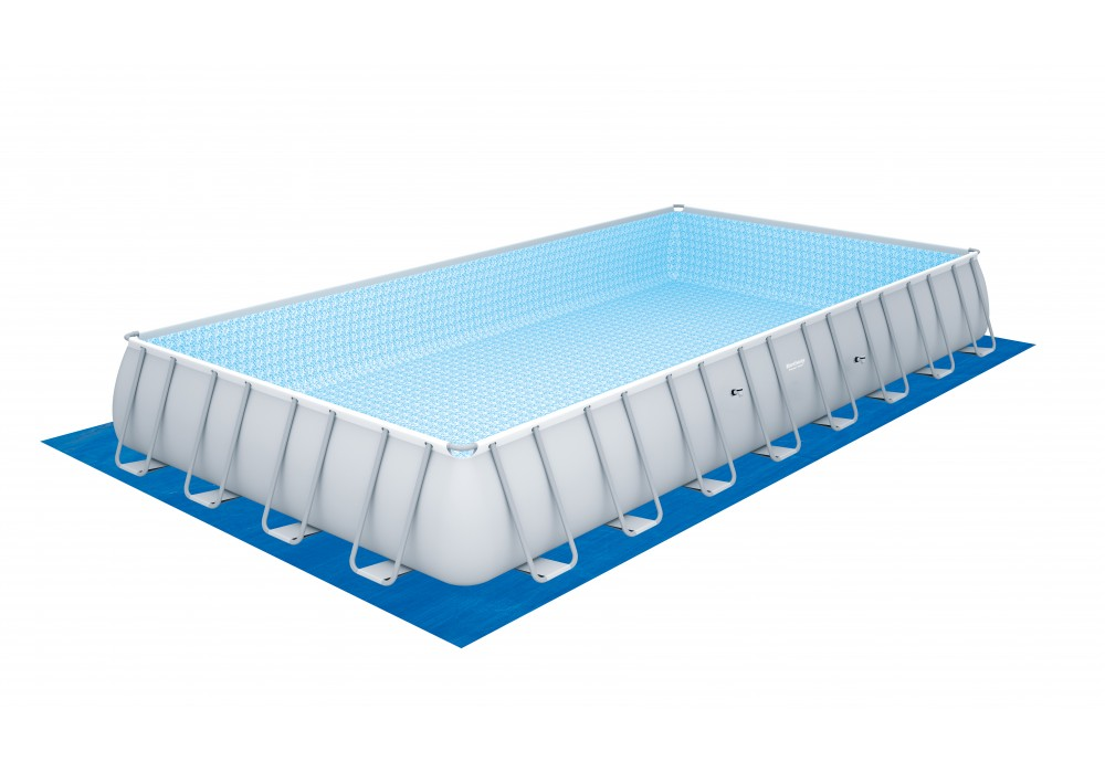 56623 Каркасный бассейн прямоугольный BestWay, 956х488х132см, фильтр-насос песчанный 7571л/ч (28372, 28376)