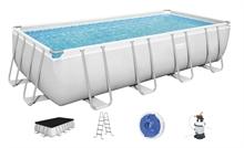 56671 Каркасный бассейн прямоугольный Bestway Rectangular Frame 488х244х122см