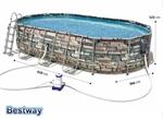 56719 Bestway Овальный каркасный бассейн Power Steal Comfort Jet 610x366x122см, фильтр-насос 9463 л/ч