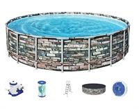56883 Каркасный бассейн круглый Камень BestWay, 610х132см