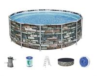 56993 Каркасный бассейн круглый  Камень  BestWay, 427х122см