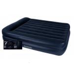 64122 Односпальная надувная кровать со встроенным насосом Intex  99Х191Х42 см