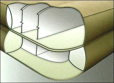 66704 Надувная кровать Intex Rising Comfort (203x152x48)