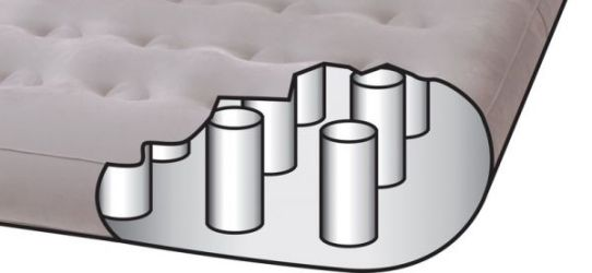 66972 Надувная кровать двуспальная со съемным матрасом Intex (180х241х56)