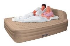 66980 Надувная кровать Intex Queen Deluxe Frame Bed, со встроенным электронасосом 220В (249x178x79)