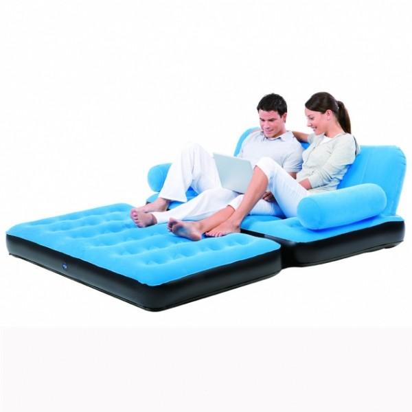 67356 Надувной диван-трансформер флокированный BestWay