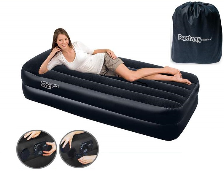 67401 Bestway Надувная кровать Premium+ Air Bed(Single) 191х97х46 см со встроенным насосом