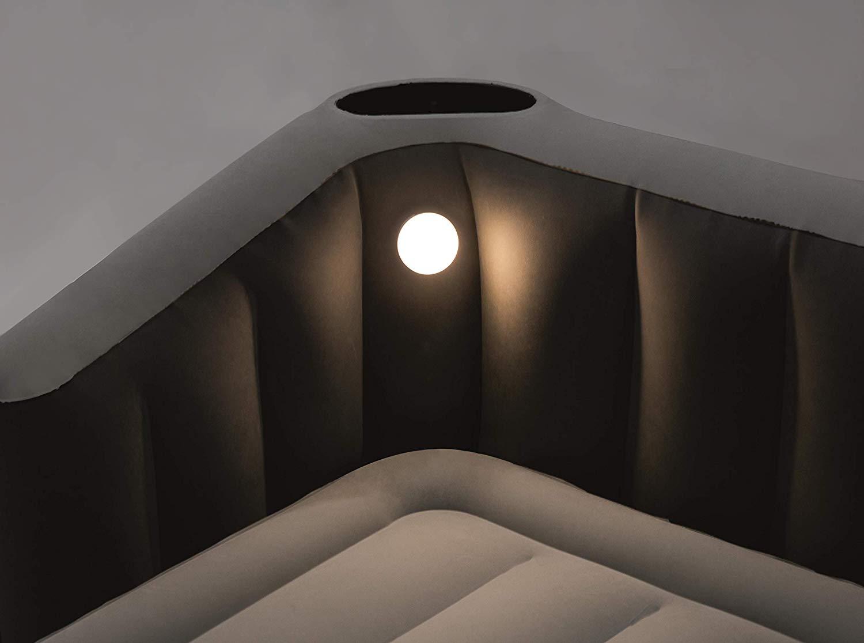 67620 Надувная двухспальная кровать 233х196х80см со встроенным насосом