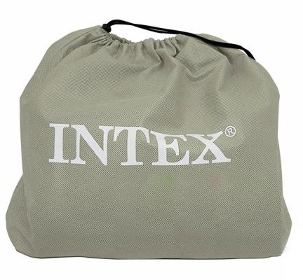 67748 Надувная кровать Intex Pillow Rest Mid-Rise, со встроенным электронасосом 220В (203x152x35)
