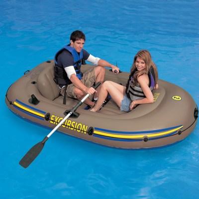 68318 Надувная лодка Intex ПВХ 241х145х42см Excursion 2 Set
