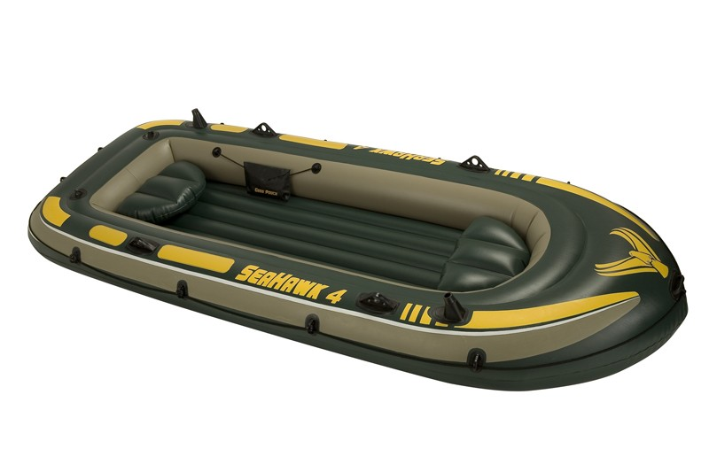 68350 Надувная лодка Intex ПВХ 4-х местная SeaHawk 400 Set 351 х 145 x 48 см