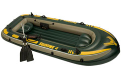 68351 Надувная лодка Intex ПВХ 4-х местная SeaHawk 400 Set 351 х 145 x 48 см