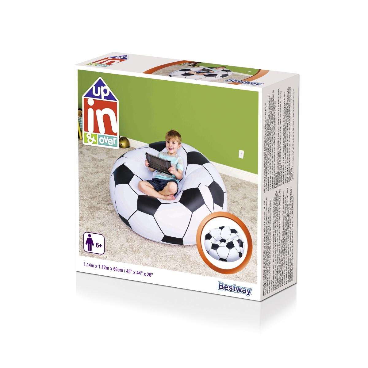 75010 Надувное кресло  Футбольный мяч  114х112х66см