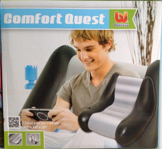 75049 Bestway Надувное кресло Perdura Air Chair 102х86х74 см