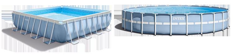 Формы чаши каркасных бассейнов